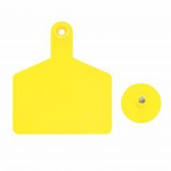 Aretes F1 Dinavet Grande Amarillo Caja x 25